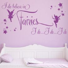 I Believe in Fairies ~ Wall sticker / decals (1)